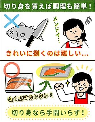切り身を買えば調理も簡単!