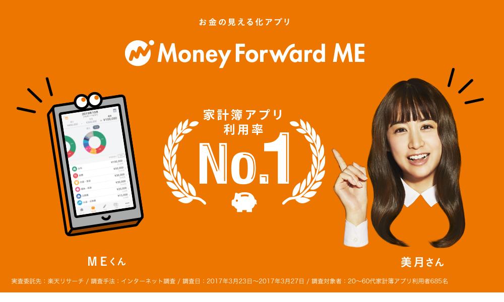 家計簿アプリNo.1!「MoneyForward」