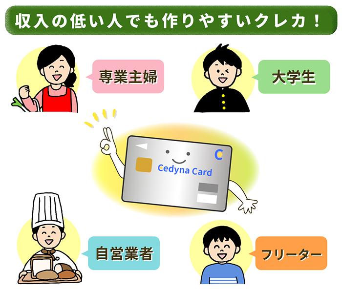 主婦やフリーターでも持ちやすい「セディナカードJiyu!da!」