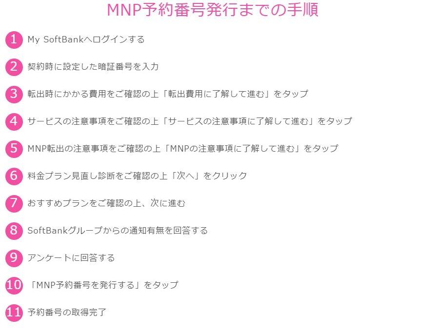 Softbank MNP取得方法